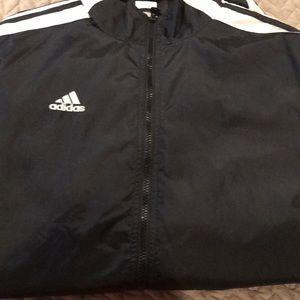 Adidas track jacket size Large